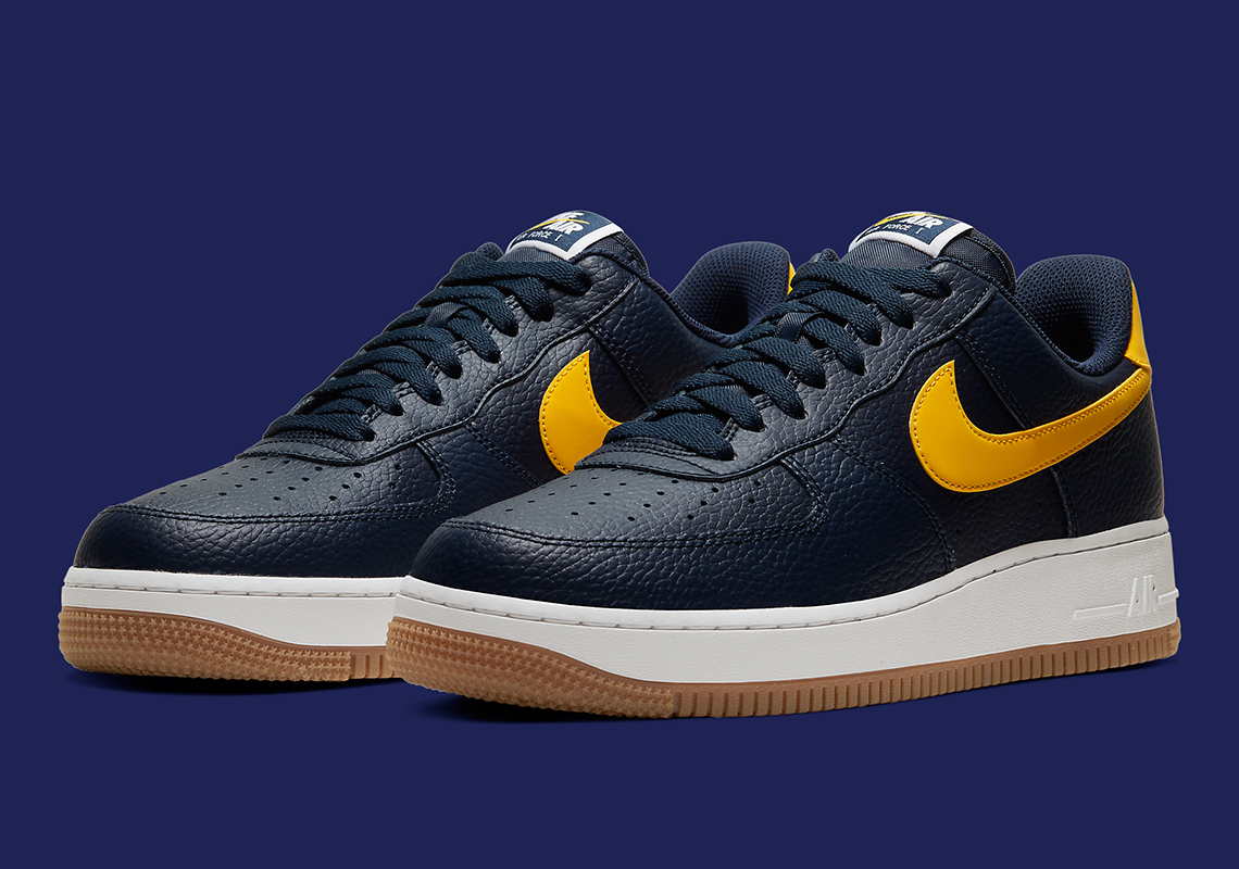Nike Air Force 1 Low Navy Yellow CI0057