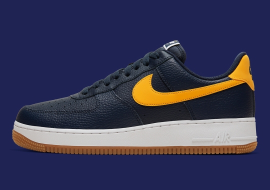 Nike Continues Well-Received Run Of Tumbled Leather AF1s With Navy And Yellow