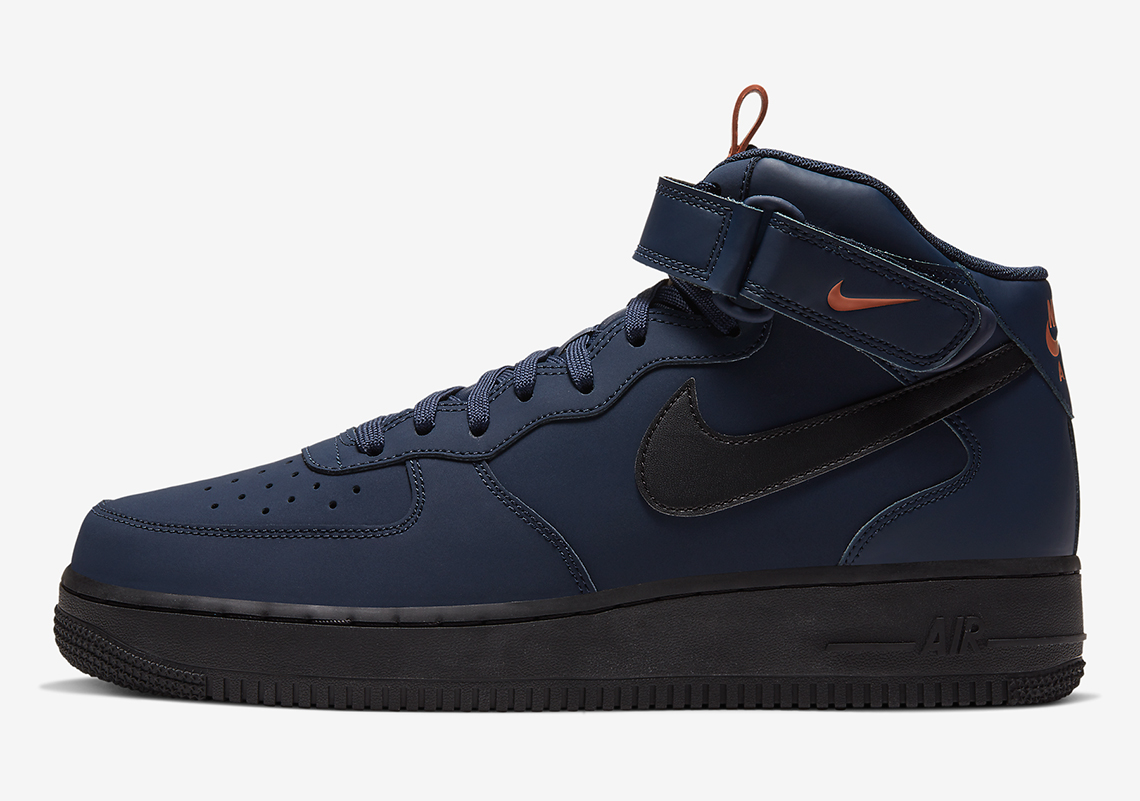 Nike Air Force 1 Mid Navy Orange BQ4592-400 | SneakerNews.com