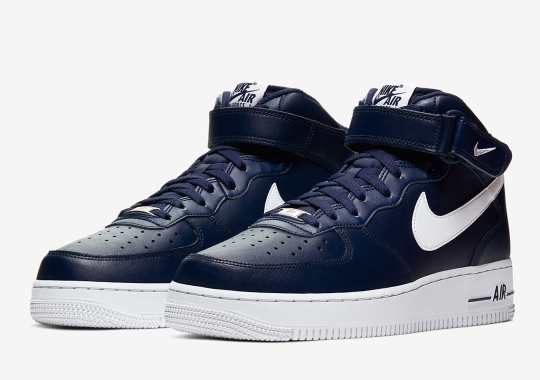 The Nike Air Force 1 Mid In Dark Navy Returns For The Holiday 2019 Season