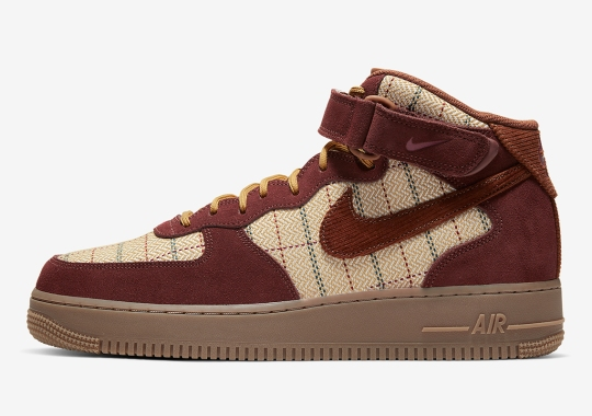 Nike Adds Plaid Patterns To The Air Force 1 Mid