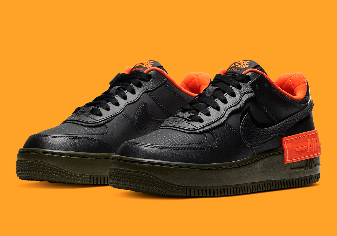 Nike Air Force 1 Black Orange CQ3317 001 |