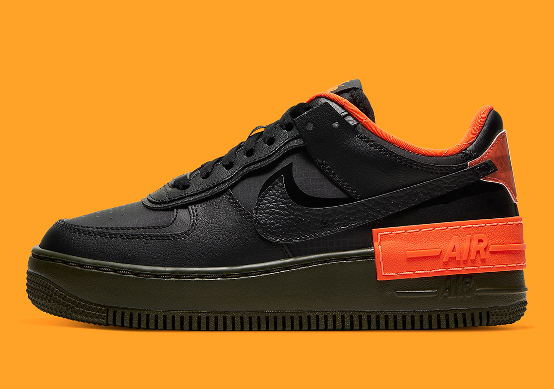 """Nike Air Force 1 Low """"Shadow"""" Unveiled Prior To Halloween: Official Images"""