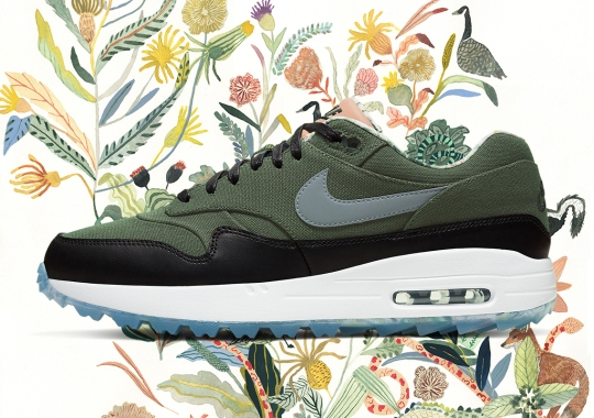 "Michelle Morin's Artwork Reappears On The Nike Air Max 1 Golf ""Enemies Of The Course"""