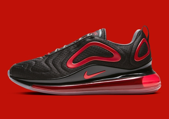The Nike Air Max 720 With Jersey Mesh Arrives In Black And Red