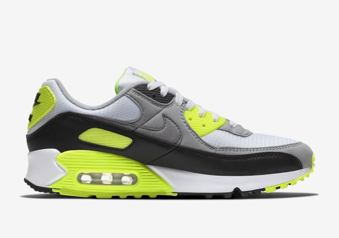 Nike Air Max 90 Grey Volt CD0881-103 | SneakerNews.com