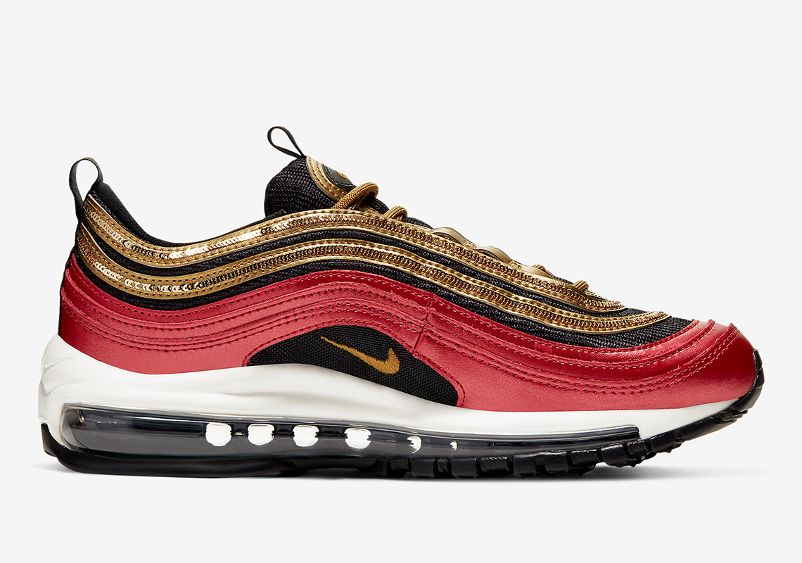 Nike Air Max 97 Receives Vibrant Red & Gold Makeover: Official Photos