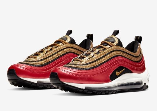 Nike Adds Golden Sequin Tracks To The Air Max 97