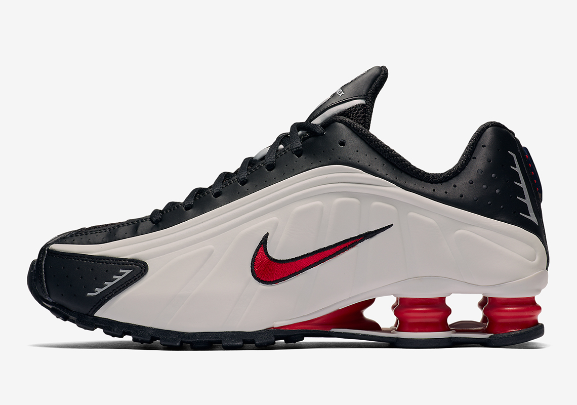 The Nike Shox R4 Surfaces In A Striking White And Red Colorway