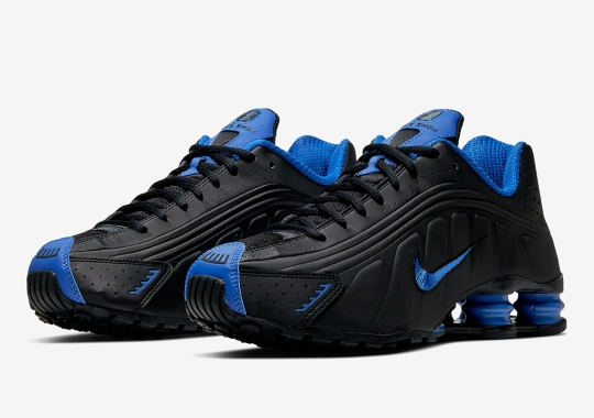 The Nike Shox R4 Surfaces In A Classic Black and Royal Blue Colorway