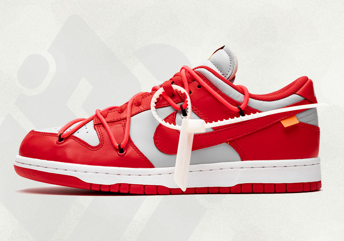 Off-White Nike Dunk Low University Red CT0856-600 Photos | SneakerNews.com
