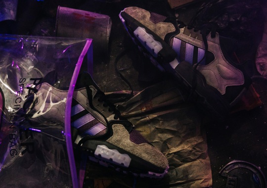 "Packer x adidas Consortium Zx Torsion ""Mega Violet"" Spotlights The Effects Of Pollution"