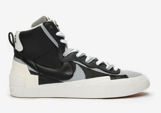 "Where To Buy The sacai x Nike Blazer Mid ""Black"""