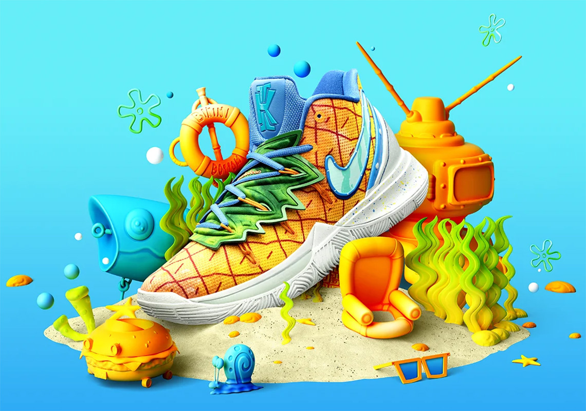 Spongebob Nike Kyrie 5 Pineapple House CJ6951-800 Store List