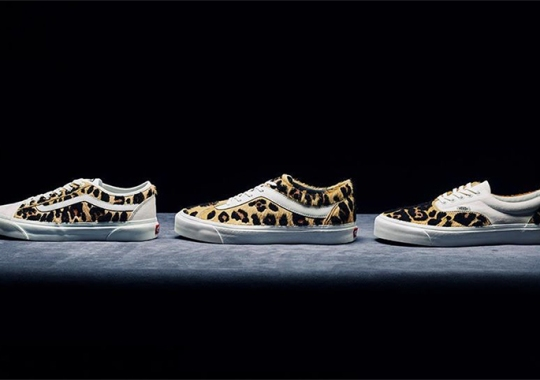 Vans And BILLYS To Release A Collection Of Furry Leopard Prints