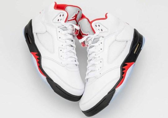 "Detailed Look At 2020's Air Jordan 5 ""Fire Red"""