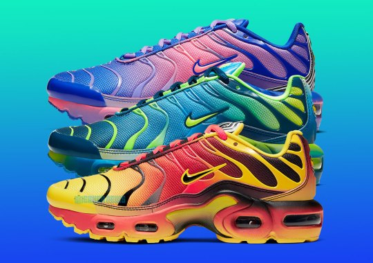 Nike Goes Heavy On The Gradients With This Air Max Plus Set For Kids