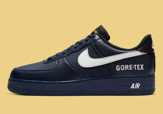 The Nike Air Force 1 Low Gore-Tex Re-emerges In Dark Navy Blue