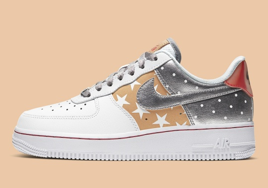 Dots And Stars Adorn This Metallic Nike Air Force 1 Low