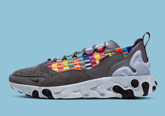 The Nike React Sertu Adds Multi-colored Woven Uppers