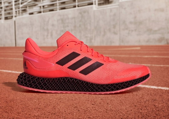 """The Brand New adidas 4D Run 1.0 """"Signal Pink"""" Is Available Now"""