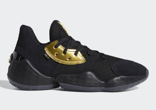 James Harden's adidas Harden Vol. 4 Gets A Lux Black And Gold