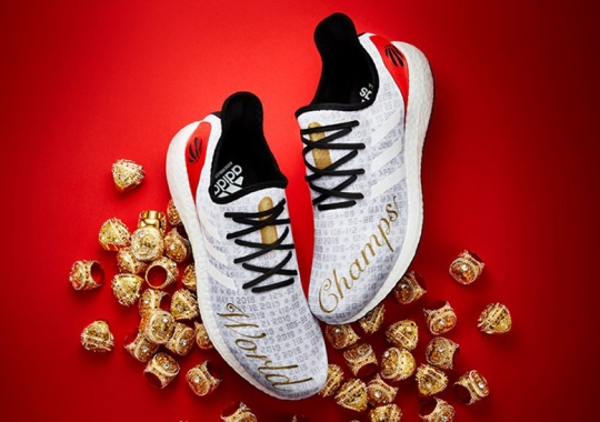 "adidas Celebrates The Toronto Raptors' Ring With Limited AM4 ""World Champs"""
