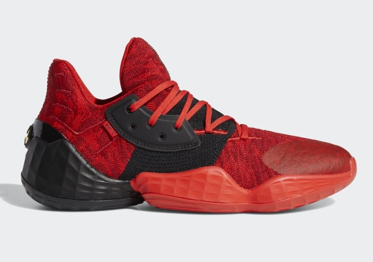 """adidas Harden Vol. 4 """"Power Red"""" Releases On December 7th"""