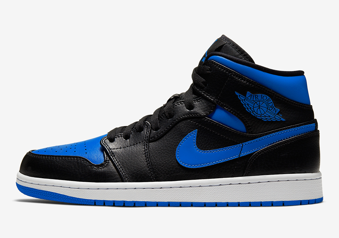 "Official Images Of The Air Jordan 1 Mid ""Royal"""