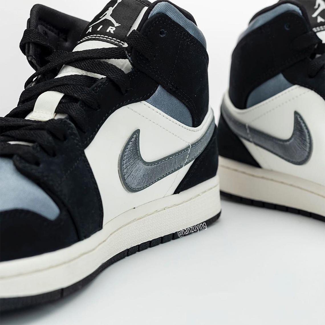 Air Jordan 1 Mid 'Satin Blue'