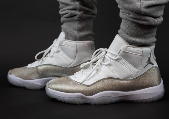 "On-Foot Look At The Air Jordan 11 ""Metallic Silver"" For Women"