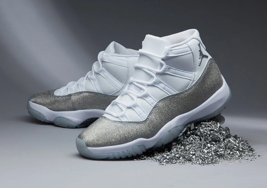 "Where To Buy The Air Jordan 11 ""Metallic Silver"" For Women"