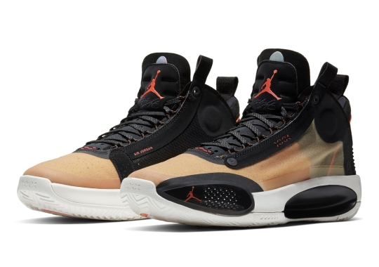 "The Air Jordan 34 ""Amber Rise"" Releases On Thanksgiving Day"
