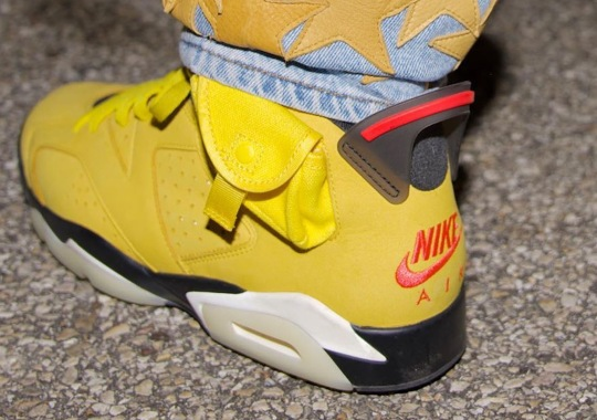 "Offset Reveals Closer Look At Travis Scott x Air Jordan 6 ""Cactus Jack"" In Yellow"