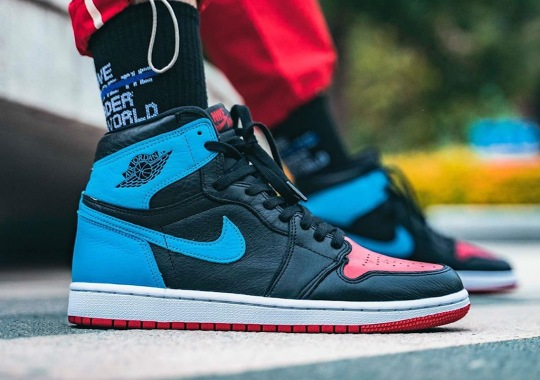 "On-Foot Look At The Air Jordan 1 Retro High OG ""UNC To CHI"""