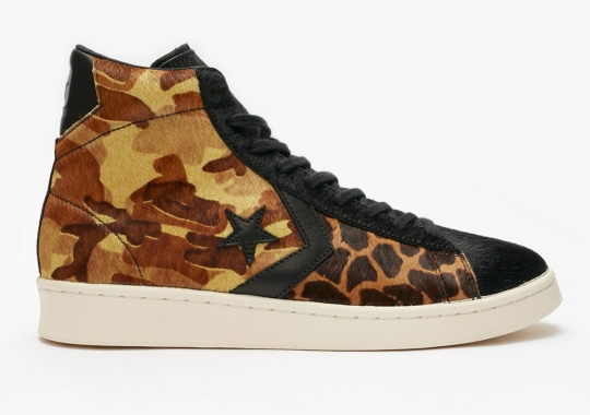 The Converse Pro Leather Gets Stylish With Camo And Giraffe Patterned Pony Hair