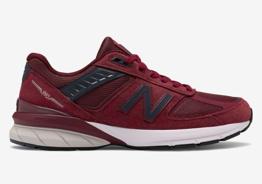New Balance's Latest 990v5 Is Covered In Rich Burgundy Suede