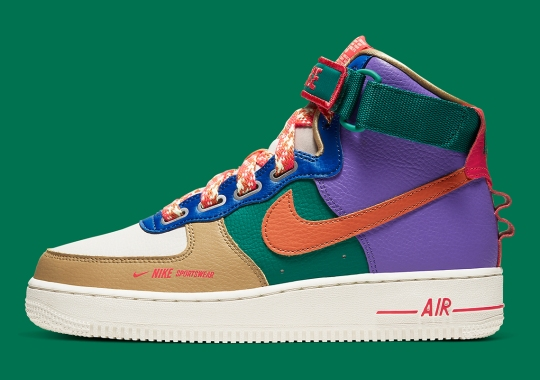 Nike's Enhanced Air Force 1 High Utility Channels Vivid Colors Of The Baltoro Hiking Boot