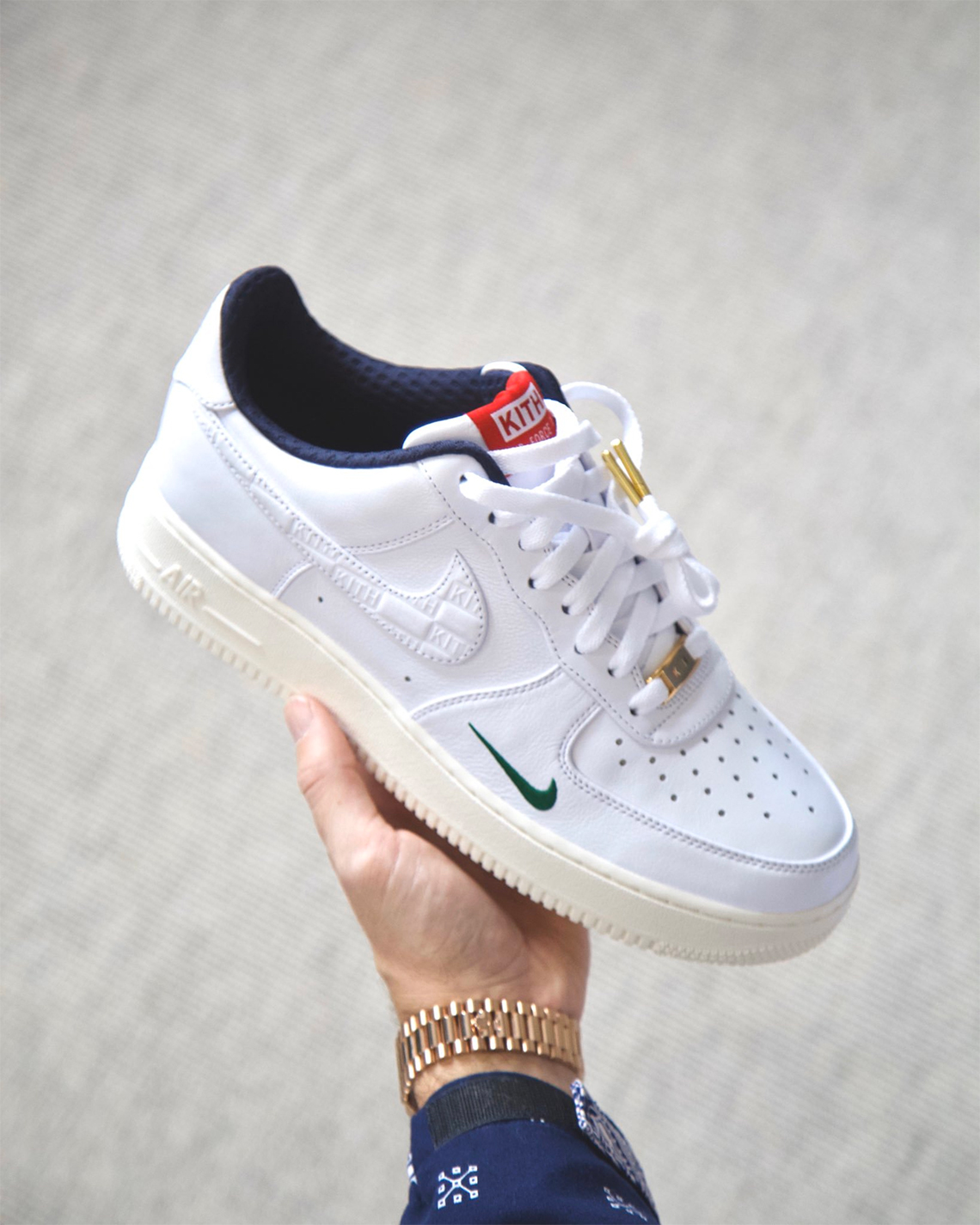 Kith x Nike Air Force 1 '07 Low WhiteBlue University Red