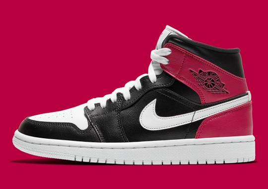 """The Air Jordan 1 Mid For Women Adds """"Noble Red"""" Heels"""