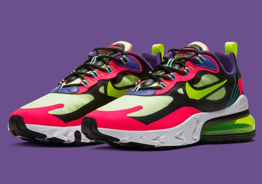 """Nike Goes Neon-Heavy With The Air Max 270 React """"Parachute"""""""