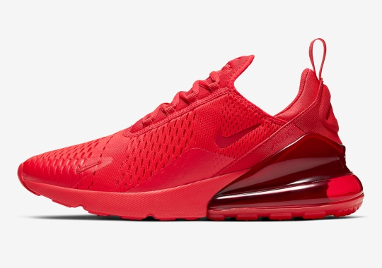 "Nike Releases A ""Triple Red"" Air Max 270"