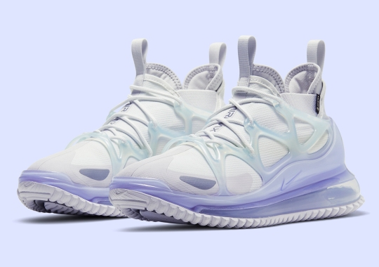 The Nike Air Max 720 Horizon Appears In A Wintry White Colorway