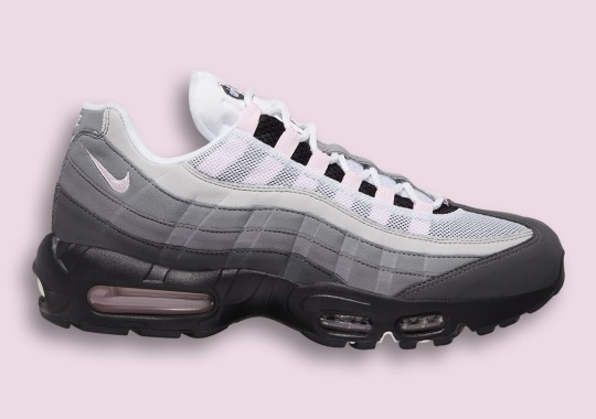 The Classic Nike Air Max 95 In Grey Adds Soft Pink Touches