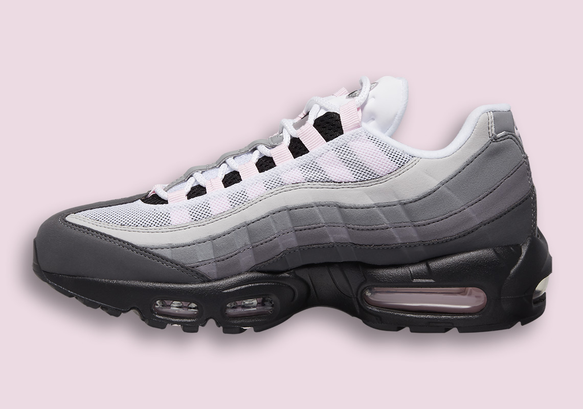 Details about NIKE AIR MAX '95 LE (GS) WHITE ROSE PINK