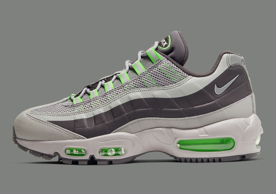 The Weather-Resistant Nike Air Max 95 Utility Appears With Electric Green Accents