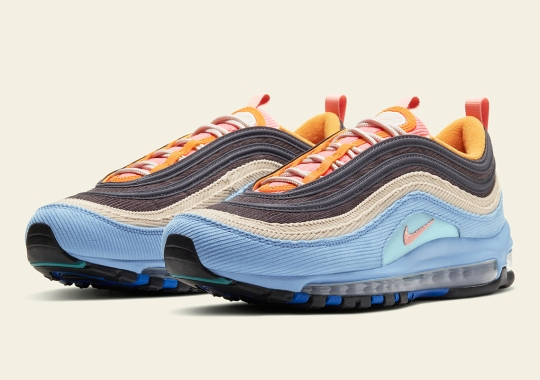 The Nike Air Max 97 With Light Blue Corduroy Releases This Weekend In Japan