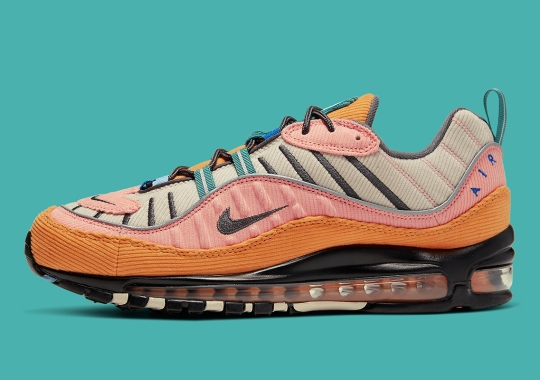 The Nike Air Max 98 Adds Various Vintage-Colored Corduroy Panels