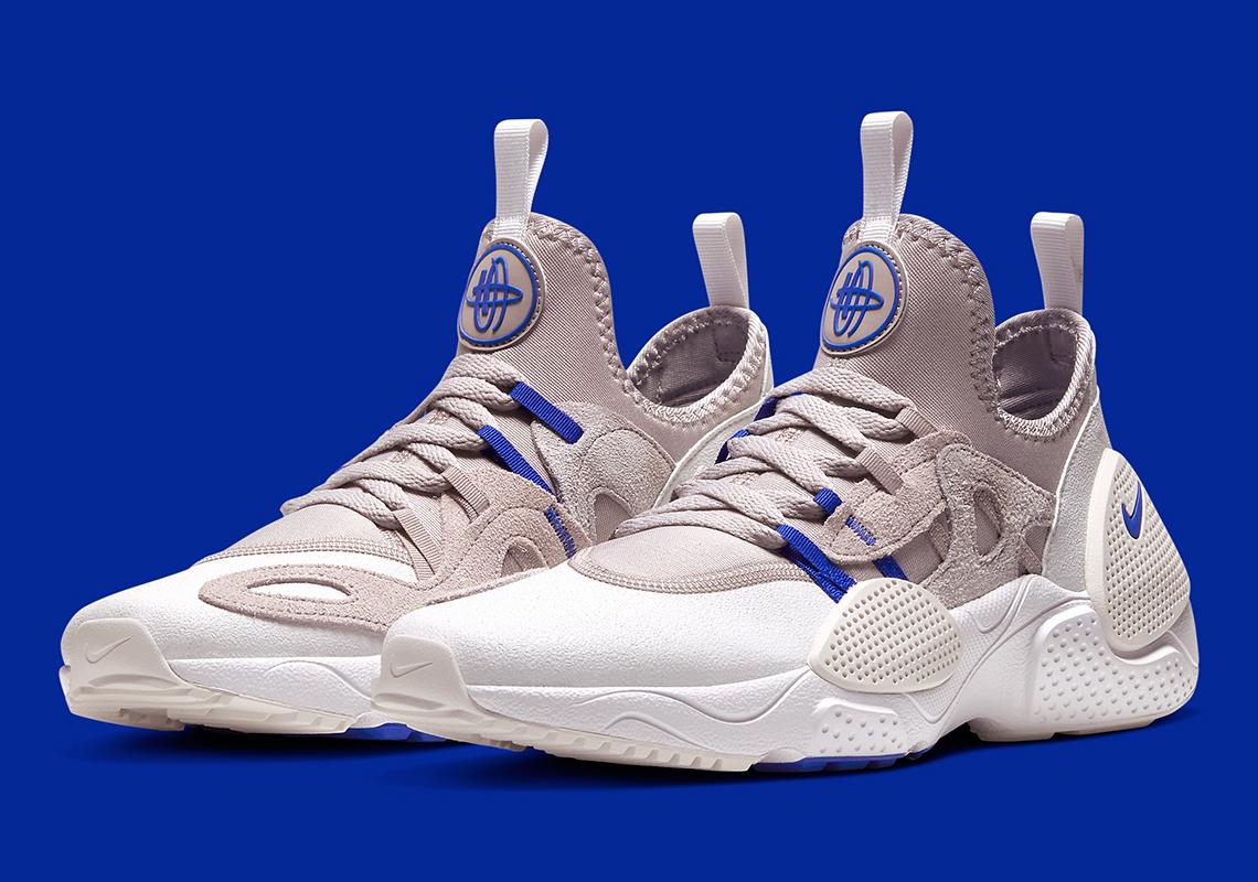 klasszikus stílusban a legjobb hozzáállás uk olcsó eladás Nike Huarache E.D.G.E. TXT Grey Blue BQ5101-200 | SneakerNews.com