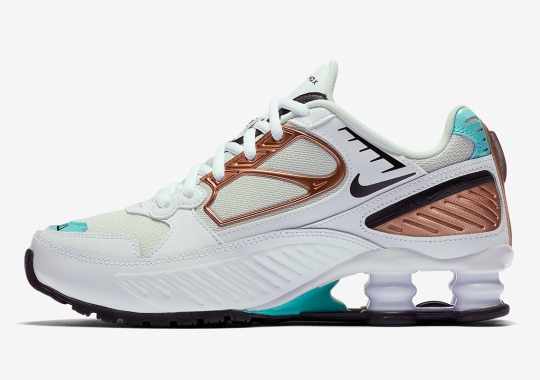 The Women's Exclusive Nike Shox Enigma Returns In Rose Gold Accents